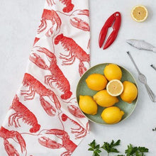 Load image into Gallery viewer, Lobster Design Tea Towel