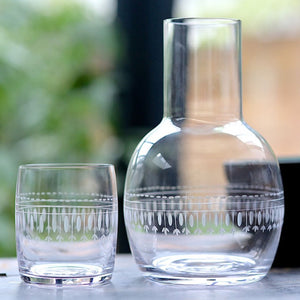 Carafe and Glass set - ovals