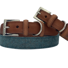 Load image into Gallery viewer, Leather Dog Collar - Aqua