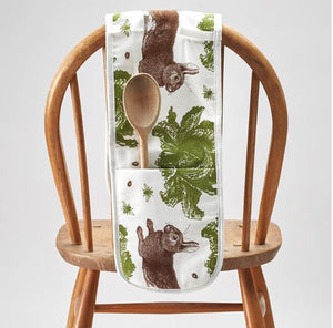 Rabbit and Cabbage Double Oven Glove