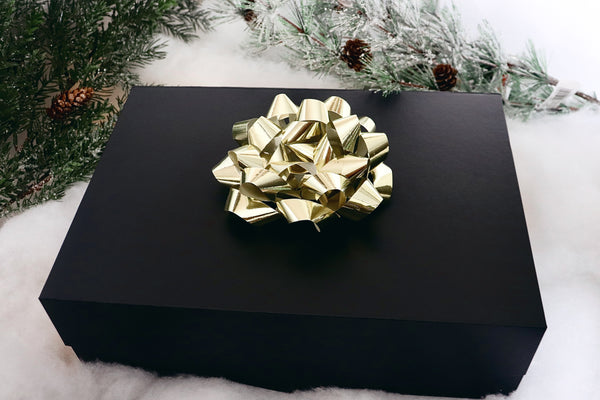 Christmas Gift Set (with Bow)  : Luxury Large Black Gift Box