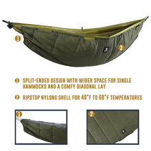 Load image into Gallery viewer, Lightweight Winter Hammock Underquilt 40 F to 68 F (5 C to 20 C)
