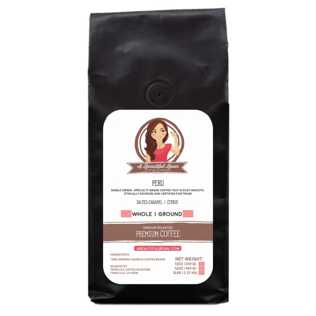 Peru Single Origin Organic Coffee, Subscription Coffee, Peruvian Coffee Beans, Arabica Coffee