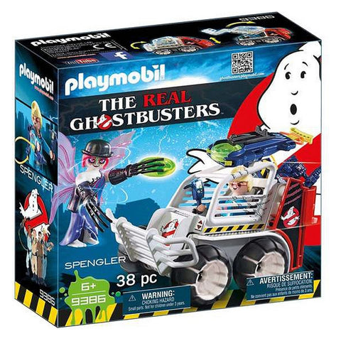 Image of Playset Ghostbusters - Spengler With Car Playmobil 9386 (38 pcs)