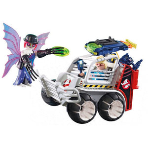 Playset Ghostbusters - Spengler With Car Playmobil 9386 (38 pcs)