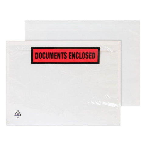Documentenhouder Documents Enclosed Plastic A4 (500 uds) (32,8 x 24,5 cm) (Refurbished A+)