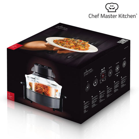 Image of Convectie Oven Chef Master Kitchen 12 L 1200-1400W Zwart Transparant