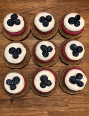 Red, White, & Blueberry Cupcakes