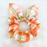 Load image into Gallery viewer, holiday scrunchie in make it merry print