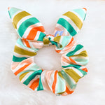 Load image into Gallery viewer, holiday scrunchie in candy cane print