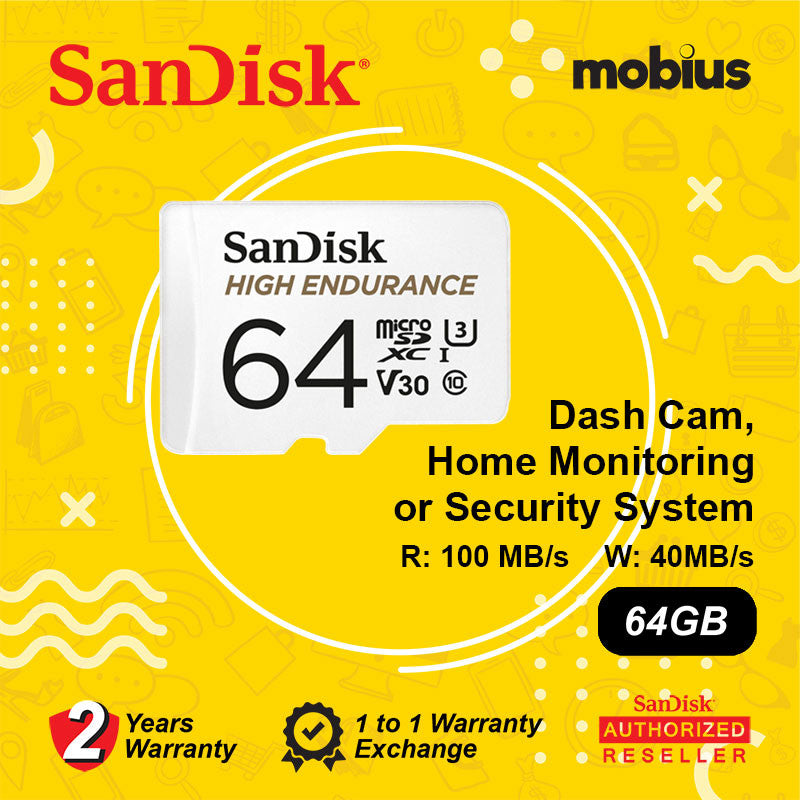 Sandisk 64GB High Endurance Class 10 U3 V30 Micro SD Card