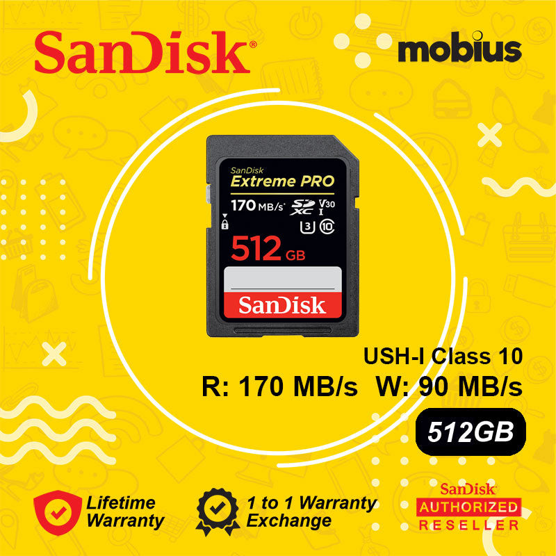 SanDisk 512GB Extreme Pro SD UHS-I C10 Memory Card
