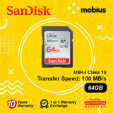 SanDisk 64GB Ultra SD UHS-I Class 10 Flash Memory Card
