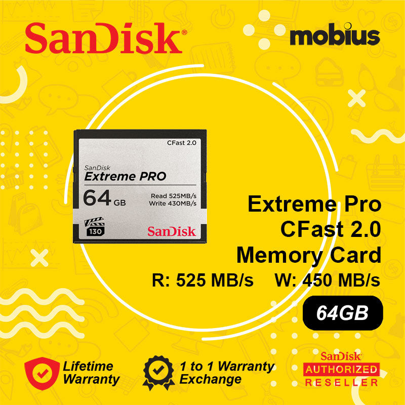 Sandisk 64GB Extreme Pro Cfast 2.0 CompactFlash Memory Card