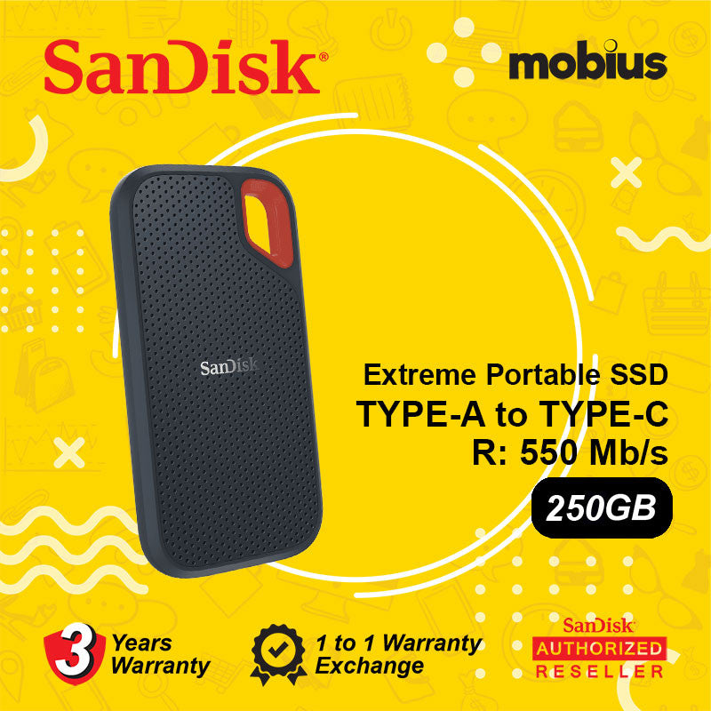 SanDisk 250GB Extreme USB3.1 Type-C Portable SSD