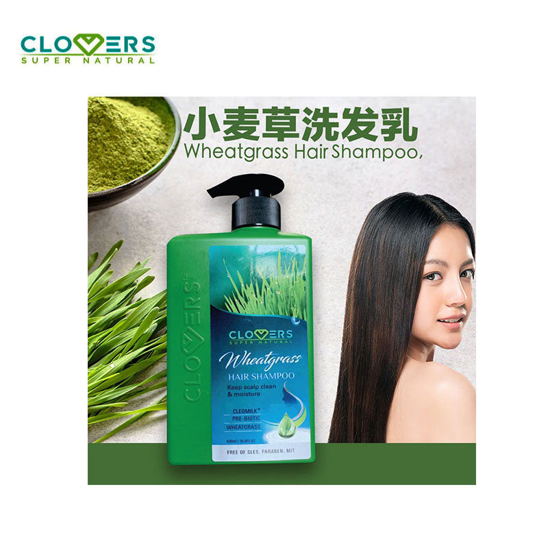 Clovers Wheatgrass Hair Shampoo 500ML