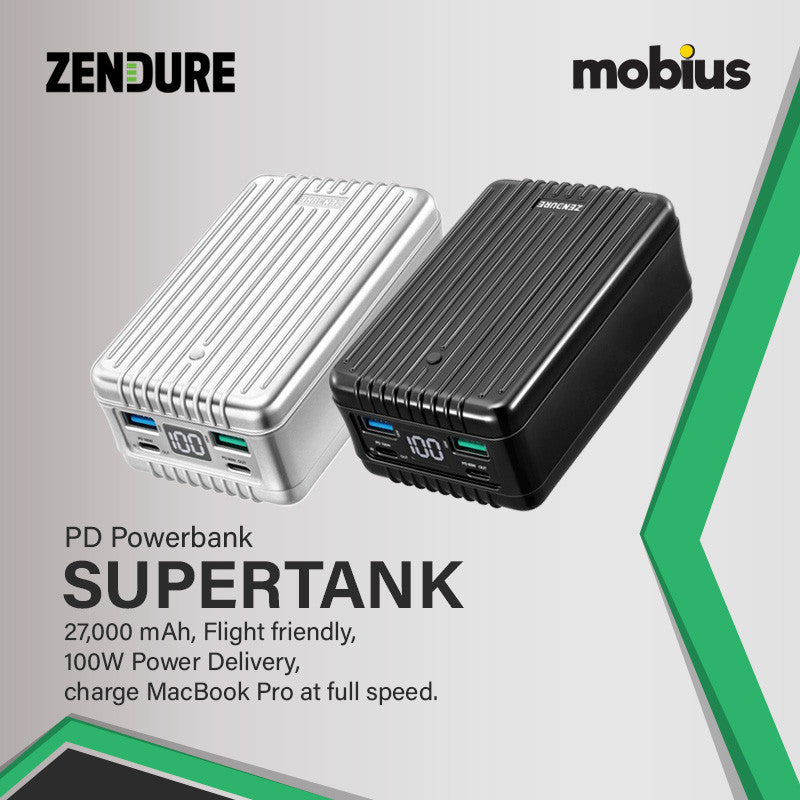 Zendure SuperTank - 27,000mAh 100W Crush-Proof Portable Charger