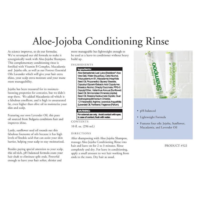 Forever Living New Aloe-Jojoba Conditioning Rinse