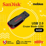 SanDisk Cruzer Blade CZ50 64GB USB 2.0 Flash Drive