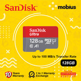 SanDisk 128GB Ultra Micro SD UHS-I Class 10 U1 A1 Memory Card