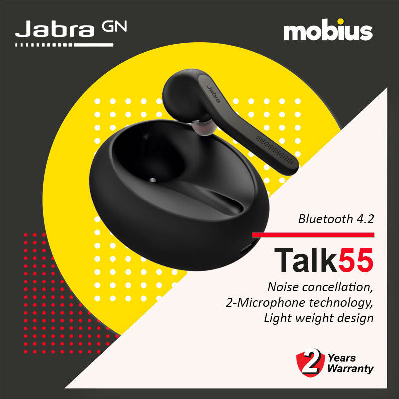 Jabra TALK 55 Mono Bluetooth Headset (Black)