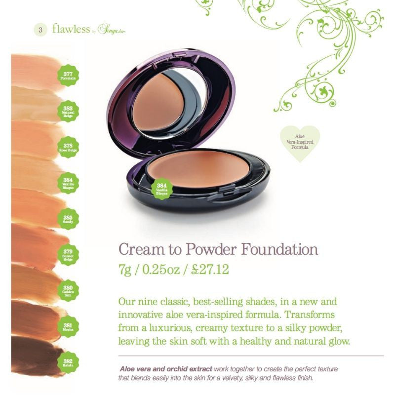 Forever Living Flawless by Sonya Cream to Powder Foundation