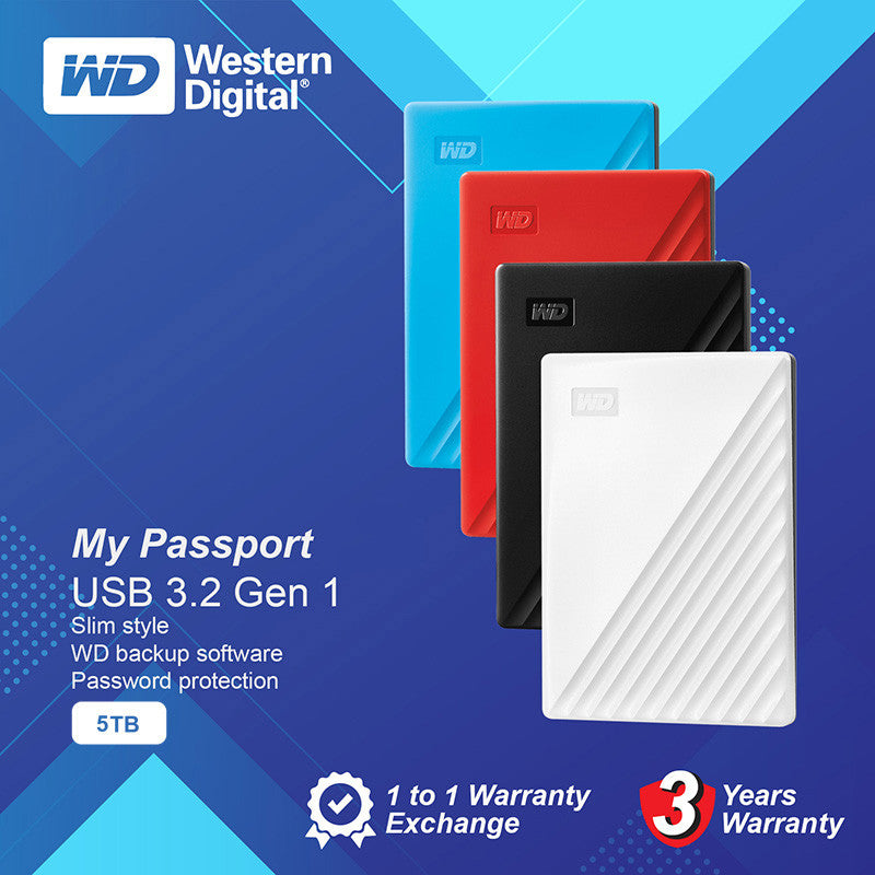 "WD My Passport 2.5"" 5TB USB3.0"