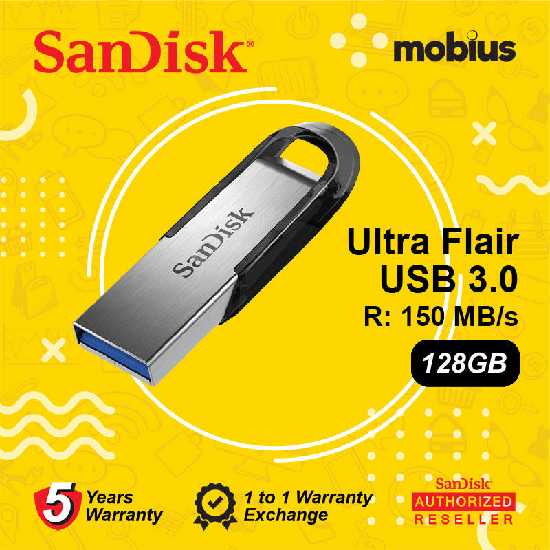 Sandisk 128GB Ultra Flair CZ73 USB 3.0 Flash Drive