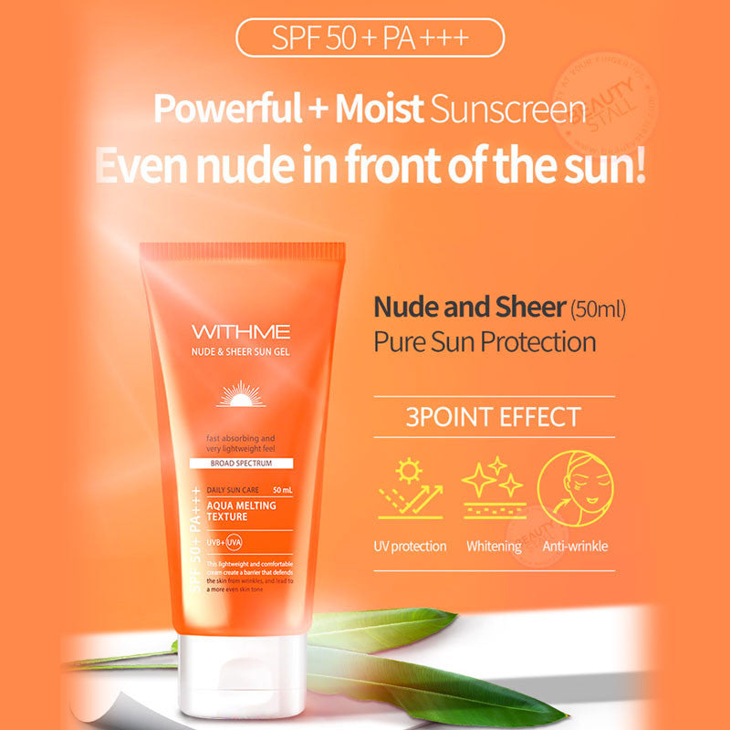 EVAS WITHME Nude & Sheer Sun Gel SPF 50+ PA+++ 50ml