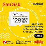 Sandisk 128GB High Endurance Class 10 U3 V30 Micro SD Card