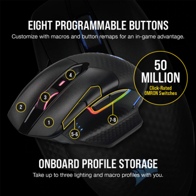 CORSAIR DARK CORE RGB PRO SE Wireless Gaming Mouse - RGB Black