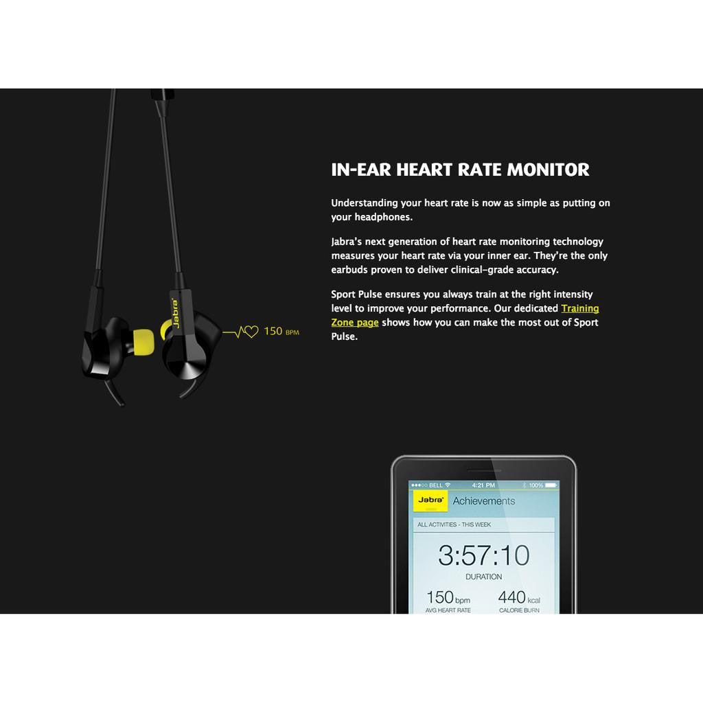 JABRA Sport Pulse Bluetooth Headset SE (Black)
