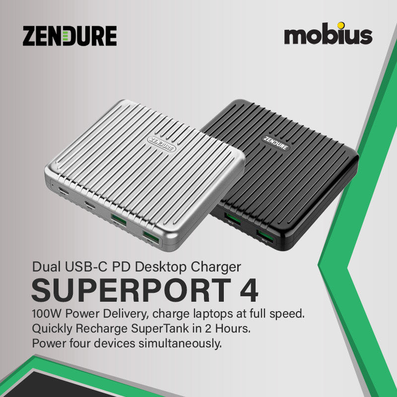 Zendure SuperPort 4 100W Desktop Charger with Dual PD