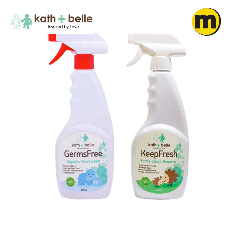 Kath + Belle Germs Free Organics Disinfectant & Keep Fresh Home Odour Remover 400ML