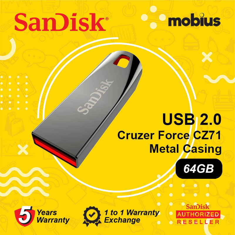 SanDisk Cruzer Force CZ71 64GB USB 2.0 Flash Drive