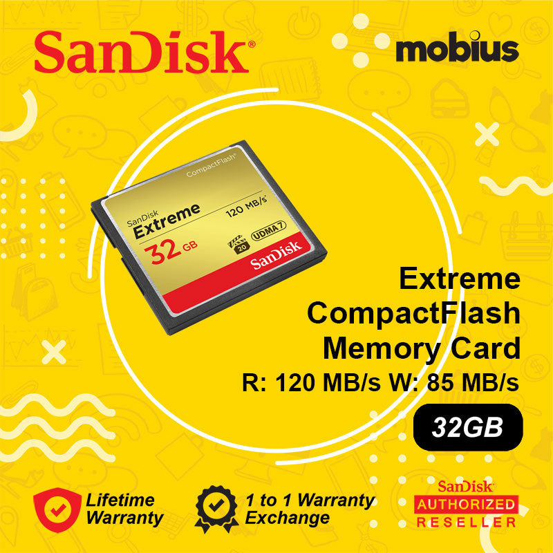Sandisk 32GB Extreme CompactFlash CF Memory Card