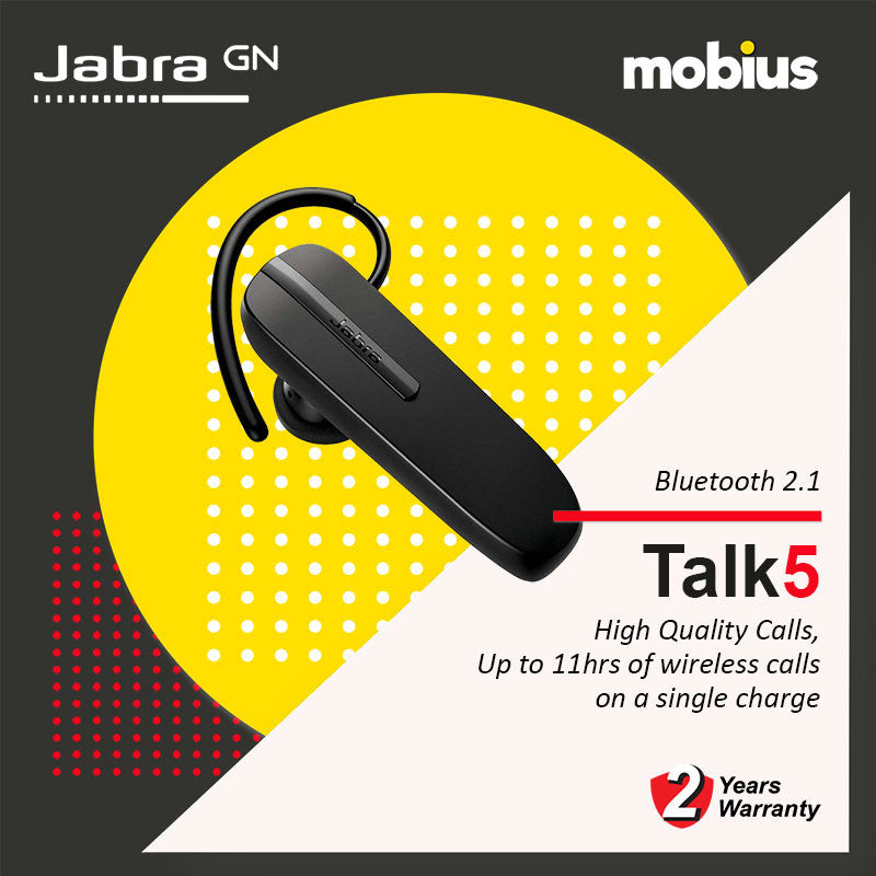 Jabra TALK 5 Mono Bluetooth Headset (Black)