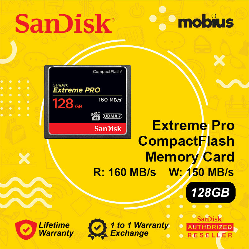 Sandisk 128GB Extreme Pro CompactFlash CF Memory Card