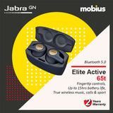 Jabra Elite Active 65T Wireless Earbuds (Red/ Copper Blue)