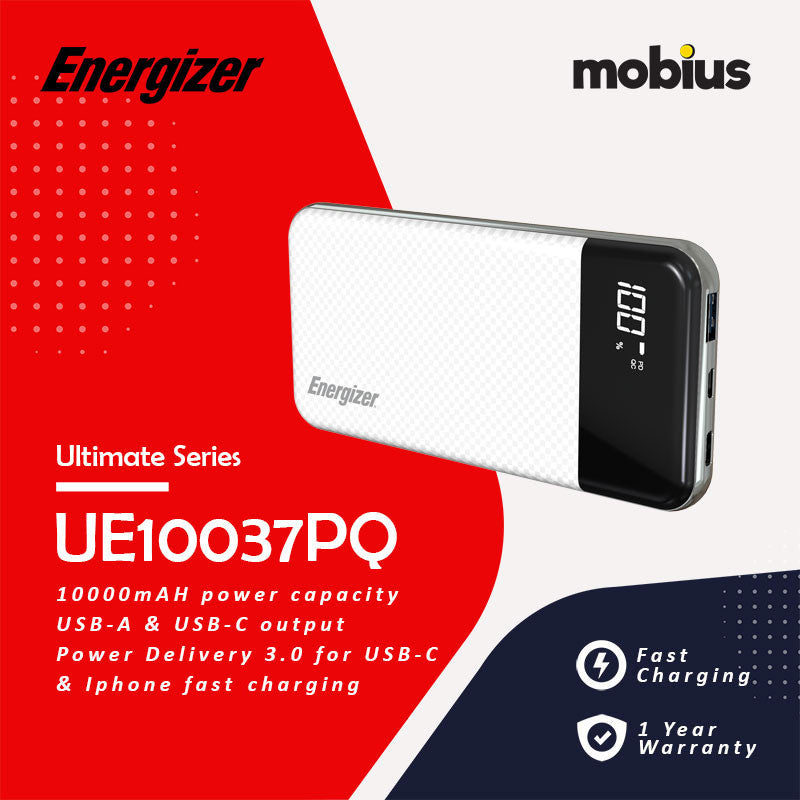 Energizer UE10037PQ [10000mAh] PORTABLE Powerbank