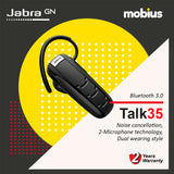 Jabra TALK 35 Mono Bluetooth Headset (Black)