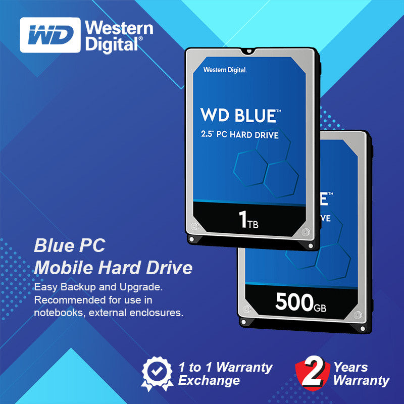 "WD 2.5"" Notebook HDD Sata 5400rpm Blue PC Mobile Hard Drive 500GB/1TB"