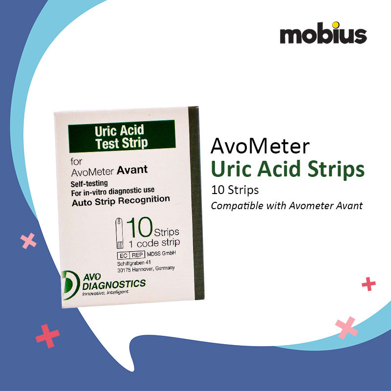 Avometer Uric Acid Strips 10's for Avometer Avant