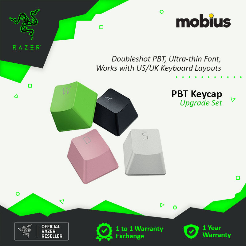Razer PBT keycap Upgrade set for mechanical and optical keyboards