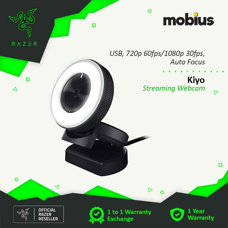 Razer Kiyo Streaming Webcam with Microphone