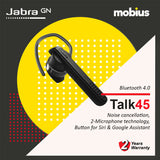 Jabra TALK 45 Mono Bluetooth Headset (Black)