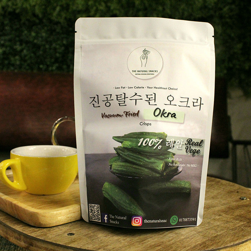 The Natural Snacks - Vacuum-Fried Okra Healthy Snacks 50g/100g