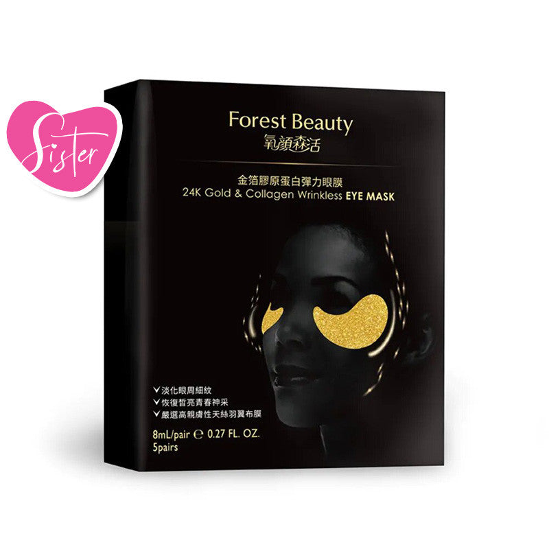 Forest Beauty 24KGold & Collagen Wrinkless EYE Mask (5pcs/box)