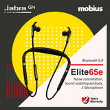 Jabra Elite 65e Wireless Bluetooth Headphone (Titanium Black/ Copper Black)