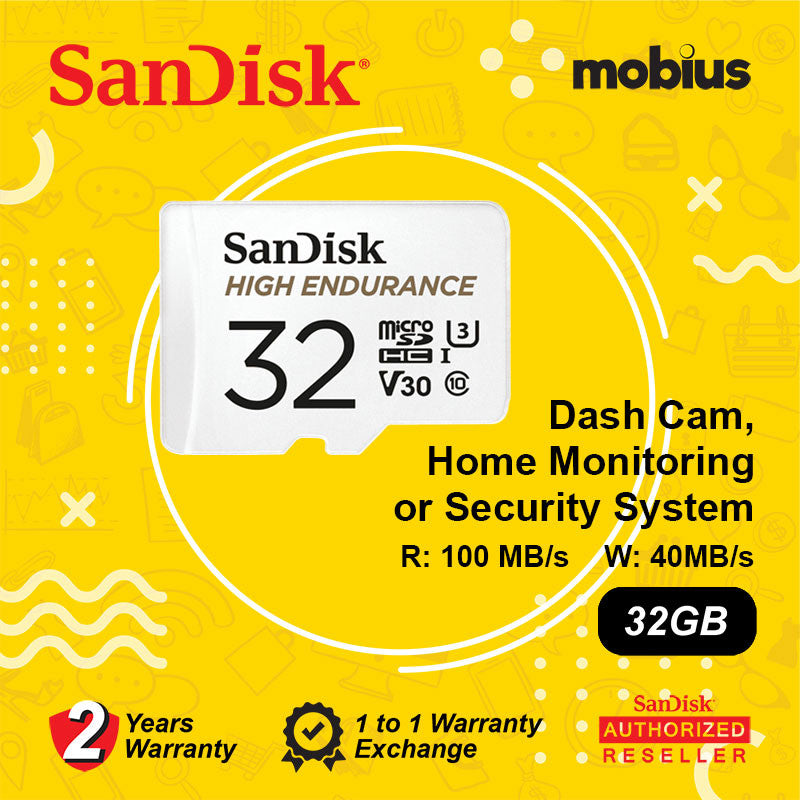 Sandisk 32GB High Endurance Class 10 U3 V30 Micro SD Card